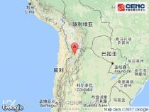 阿根廷胡胡伊省附近发生6.4级左右地震