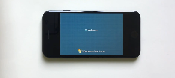 苹果iPhone 7运行Vista:VGA显示模式画面感人
